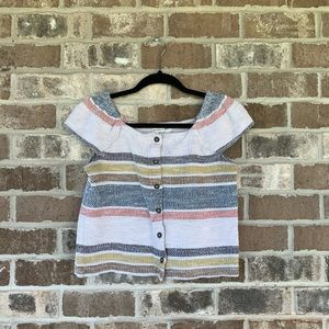 Texture & Thread By Madewell Multi-Color Woven Top